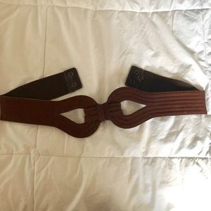 Brown Leather Cinch Belt